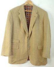H FREEMAN & SON Mens Tan Classic Blazer Sport Coat w/ Red Printed Lining Size 46