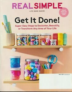 """REAL SIMPLE Magazine May 2021 Issue New Unread """"Get It Done!"""""""
