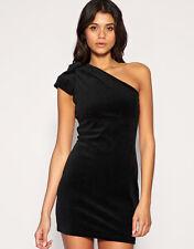 Vero Moda Bow Shoulder Velvet Party Dress - Black - Large