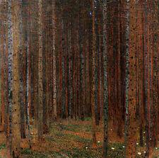 GUSTAV KLIMT : TANNENWALD , PINE FOREST 1 WOODLAND 24 INCH FINE ART CANVAS PRINT