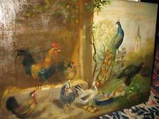 SCHEUERER Julius, 1859 Talla Bandada de aves de corral antes de Pueblo