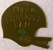 Hat Lapel Pin sports I'm A Football Fan Helmet NEW