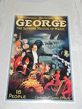 "Large 24""x36"" Print Poster George The Supreme Master of Magic Magician Picture"
