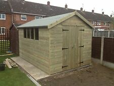 8 x 8 Apex Workshop Shed / fully pressure treated FREE FITTING