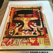 OBEY Giant Shepard Fairey Obey 3 Face Collage Litho Top Signed and Dated