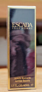 Escada Pour Homme Aftershave 40ml / 1.3oz splash new sealed! Free Shipping