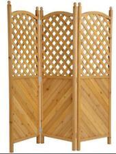 Grasekamp 3 Panel Room Divider 180cm x 181cm Natural