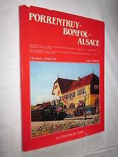 RAIL TRAIN : HISTOIRE DE LA LIAISON FERROVIAIRE PORRENTRUY BONFOL ALSACE  AMMANN