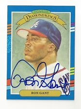 1991 DONRUSS DIAMOND KINGS RON GANT AUTOGRAPH CARD #10 SIGNED IN PERSON BRAVES