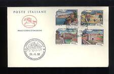 1993  ITALIA FDC CAVALLINO 26.6.1993 CITTA' ITALIANE SERIE COMPLETA 4 VALORI