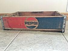 Vintage PEPSI COLA Wooden Crate Box 482 1/2L