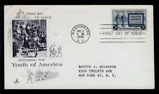 FIRST DAY COVER #963 Saluting Young America Youth Month 3c ARTCRAFT Add FDC 1948