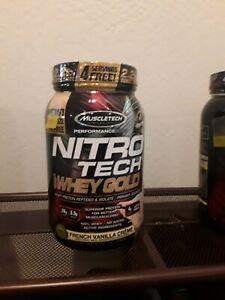 Muscletech Nitro Tech Whey Protein Powder 2.2lbs French Vanilla