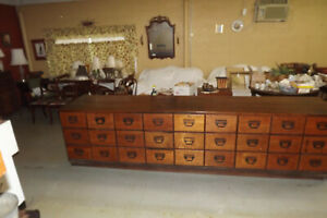 LARGE ANTIQUE COUNTRY STORE COUNTER--KITCHEN ISLAND --CIRCA 1920