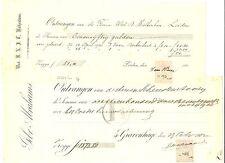 NEDERLAND 1888/1937 4 x QUITANTIE MET FISCAAL ZEGELS