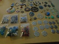 HUGE Lot of Jewelry Making Supplies-Beads Findings Rings Closures #FF