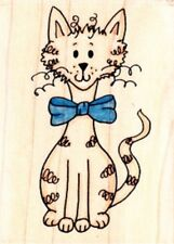 SOPHISTI-CAT - Wood Mounted Rubber Stamp - Funstamps / Personal Impressions