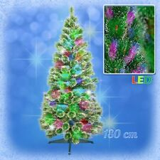 150 cm LED Weihnachtsbaum FICHTE mit farbwechselnde Lichtfasern