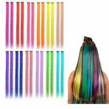 Kyerivs Colored Clip in Hair Extensions 22inch Rainbow Heat-Resistant Straight H