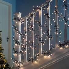 LED Chasing Cluster Light String Christmas Decoration White Multi Colour