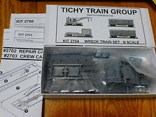 Tichy Train Group #2704 Work Train Set - Kit pkg(4) -- Undecorated