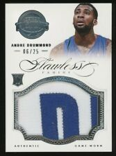 2012-13 Panini Flawless Andre Drummond RC Rookie Jumbo GU Patch 6/25