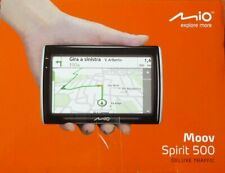 Mio Moov Spirit 500 GPS Receiver Satnav Deluxe Traffic navigation 23 countries
