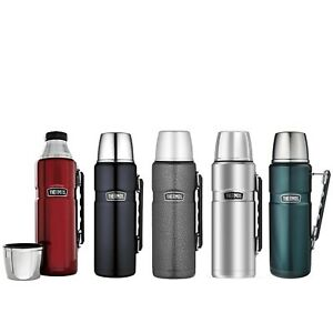 New THERMOS Stainless King S/Steel Vacuum Insulated Flask 1.2 Litre Genuine
