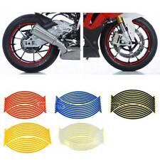 16 Pcs Reflective Motorcycle Motor Car RIM Stripe Wheel Decal Tape Sticker 17'