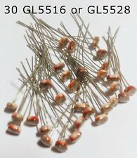 30 GL5516 or GL5528  5mm Light Dependent Resistor Photoresistor LDR