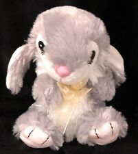 Dan Dee Cow Bunny Stuffed Plush Gray White Dandee Collector's Choice