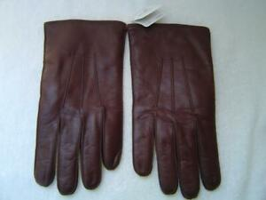 NEW AUTHENTIC COACH MENS FAWN NAPPA LEATHER BASIC GLOVES #82863 SIZE MEDIUM