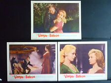 1962 THE VAMPIRE AND THE BALLERINA -7 HORROR LOBBY CARDS - SEXY GIRLS + MONSTERS
