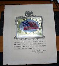 WWII WORLD WAR 2 DECEMBER 8, 1941 F.D. ROOSEVELT PROCLAIMATION TO ENTER WAR