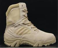 Men's Desert Military Combat High Top Lace Up Tactical Zip Ankle Boots Sz US6-11