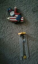 """Eddie Walker 4th of July Uncle Sam Wind Chime 15"""" Long Red White Blue"""