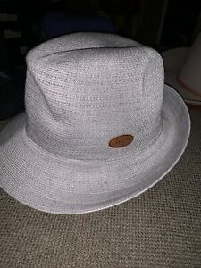 NWT Men's Kangol Needles Hiro Trilby Hat Fedora Grey Sz L From 2014