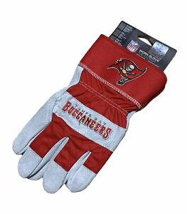 Tampa Bay Buccaneers NFL Embroidered Leather Work Gloves