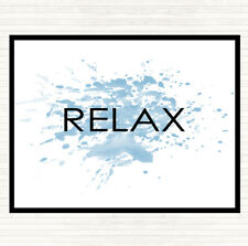 Blue White Relax Inspirational Quote Mouse Mat Pad
