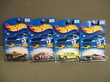 HOT WHEELS-ALL 4 SKIN DEEP SERIES CARS-DIE CAST-2001-NEW-MIP