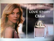 PUBLICITE-ADVERTISING :  CHLOE Love Story [2pages] 2016 Clémence Poésy,Parfum