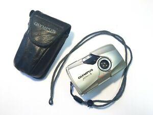 Olympus mju ii Stylus epic 35mm Film Camera with 35 mm f2.8 lens - Silver