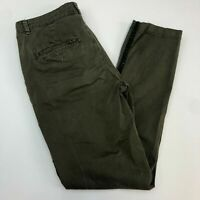 Chino by Anthropologie Chino Pants Womens 28 Green Flat Front Relaxed Fit Casual