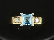 Moderner Topas Brillant Ring ca. 1,56ct  6,6g 750/- Gelbgold