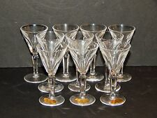 "LOVELY SET OF TEN (10) WATERFORD ""SHEILA"" CORDIALS, 3 3/4"" TALL, ACID ETCH MARK"