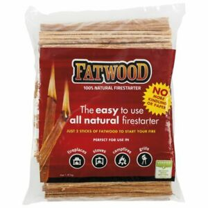 Fatwood All Natural Fire Ignition Firelighter 100% All Natural Fire Starter Wood