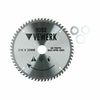 216mm x 30mm TCT Tungsten Carbide Tipped Circular Saw Blades 60 Teeth