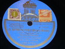 MICKEY MOUSE 78 rpm RECORD Odeon ORQUESTA PLANAS El Ratoncito Perez / Capote...