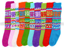 Set of 09 alpaca wool Long socks peruvian colour neon Long Socks Light and Warm
