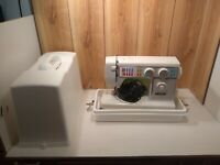 Vintage Necchi Model 4575 sewing machine w/foot pedal, case, instructions,clean